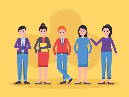 team people employee office vector illustration design Illusztráció