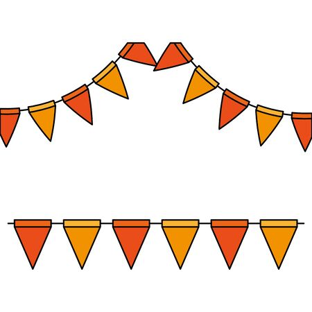 party garlands decoration hanging icon vector illustration design