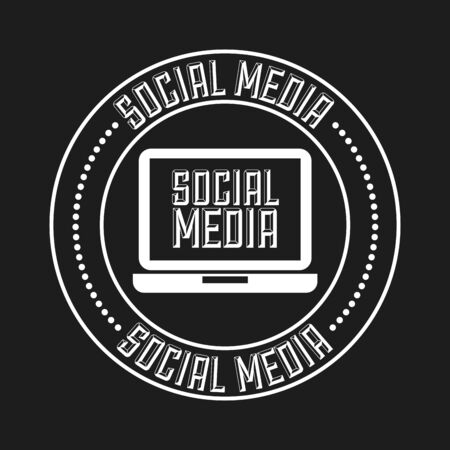 social media design, vector illustration