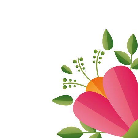 flower floral decoration on white background vector illustration Standard-Bild - 129252370