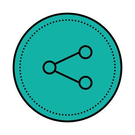 share symbol social media icon vector illustration design Illusztráció