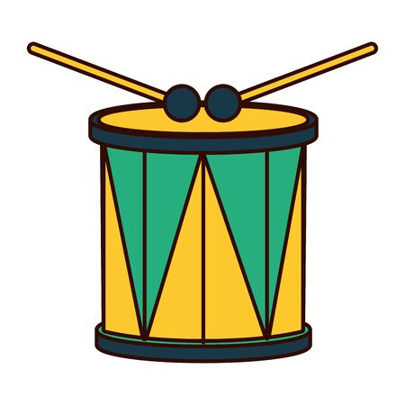 drum and sticks music instrument vector illustration Ilustracja