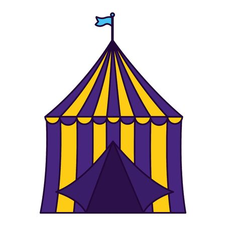 carnival tent circus on white background vector illustration design 向量圖像
