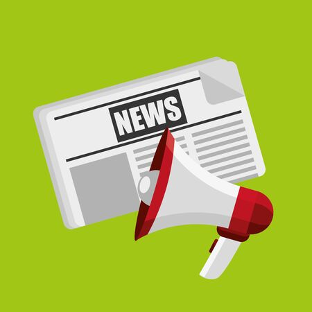 breaking news design, vector illustration