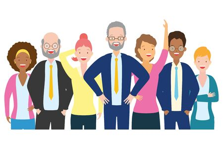 people group characters diversity on white background vector illustration Stock Illustratie