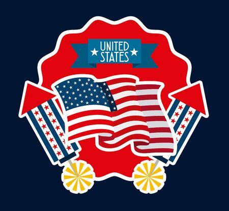united states design, vector illustration Ilustracja