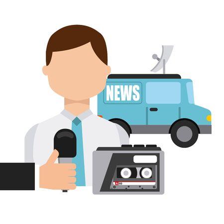breaking news design, vector illustration graphic Stock Vector - 129323077