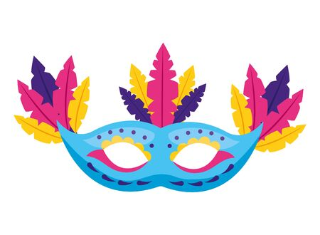 mask with feather decoration carnival vector illustration 스톡 콘텐츠 - 129323426