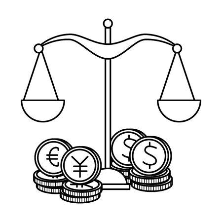 scale balance equality icon vector illustration design Ilustrace