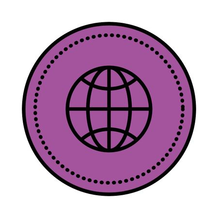 sphere planet browser icon vector illustration design