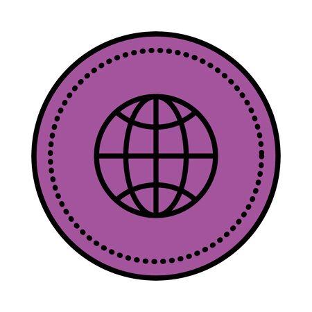sphere planet browser icon vector illustration design 写真素材 - 129327733