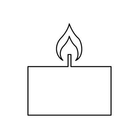 candle flame spa isolated icon vector illustration design Çizim