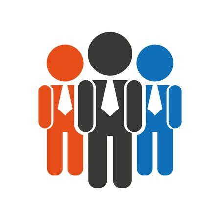 teamwork businessmen silhouette icon vector illustration design