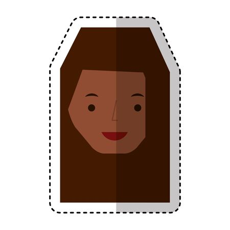 young woman avatar character vector illustration design 向量圖像