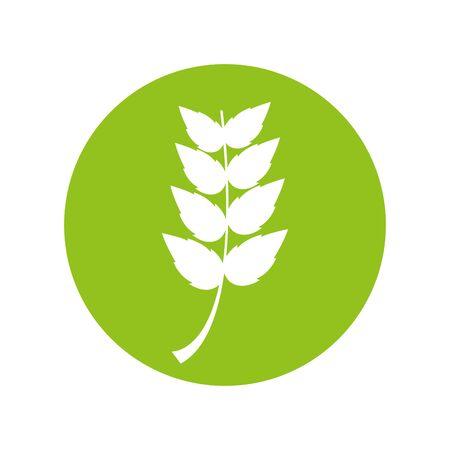 leaf plant silhouette icon vector illustration design 向量圖像