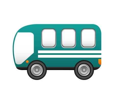 bus transport service icon vector illustration design Stock Illustratie