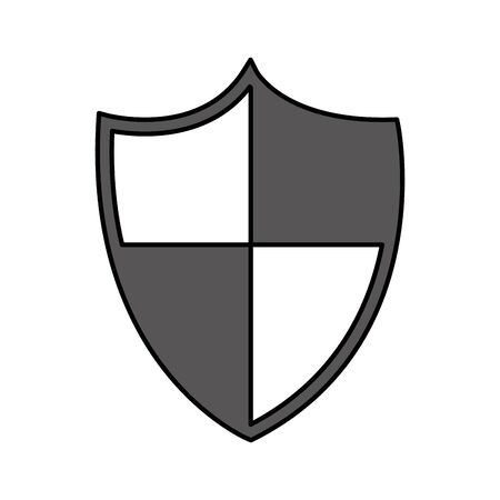 shield security isolated icon vector illustration design Ilustração