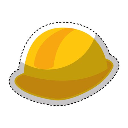 construction helmet isolated icon vector illustration design Stock Illustratie
