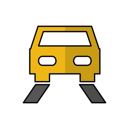car auto vehicle isolated icon vector illustration design Stok Fotoğraf - 129831306