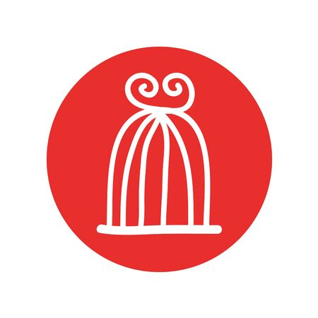 bird cage drawing isolated icon vector illustration design