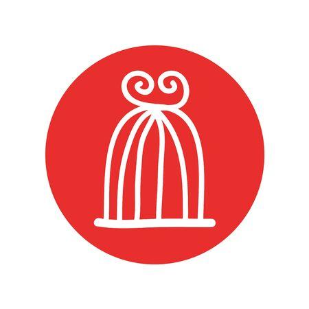bird cage drawing isolated icon vector illustration design Standard-Bild - 129295206