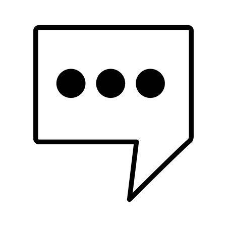 Message de bulle sur fond blanc vector illustration