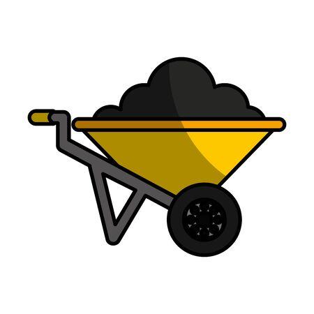 wheelbarrow tool isolated icon vector illustration design
