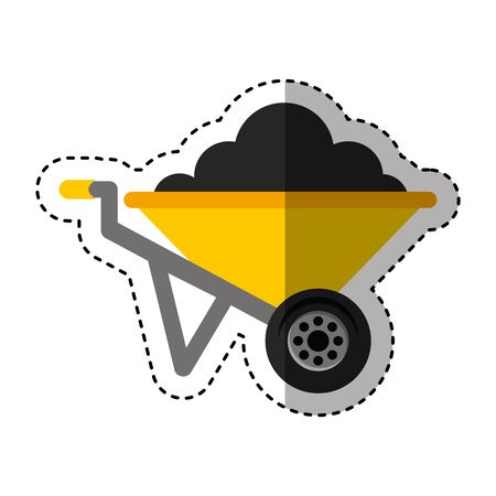 wheelbarrow tool isolated icon vector illustration design