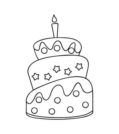delicious sweet cake icon vector illustration design