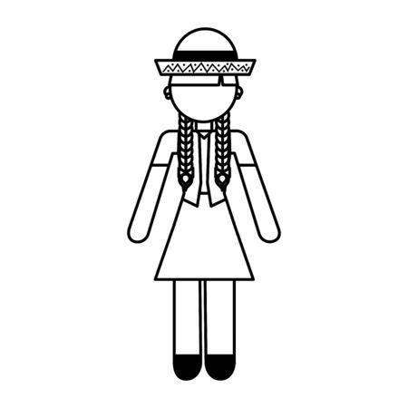 peasant woman avatar character vector illustration design 일러스트