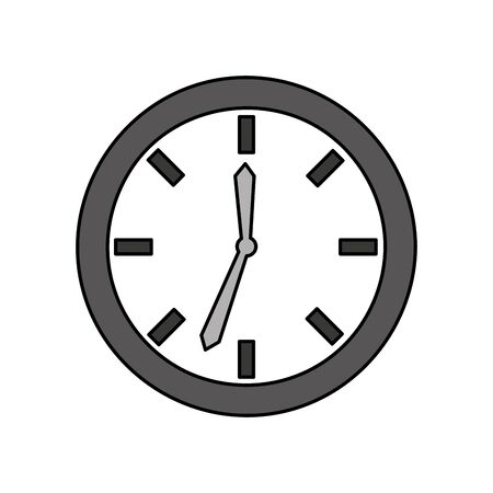 time clock isolated icon vector illustration design Çizim