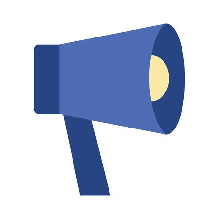 megaphone loudspeaker announcement icon vector illustration design Иллюстрация
