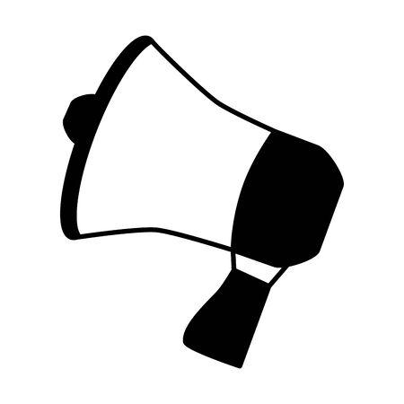 megaphone speaker announce on white background vector illustration Ilustração