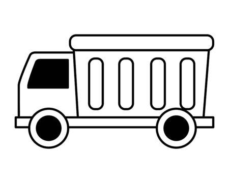 truck kids toy on white background vector illustration