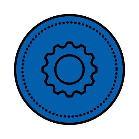 gear machine setup isolated icon vector illustration design