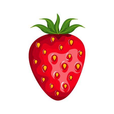 fresh strawberry fruit nature icon vector illustration design