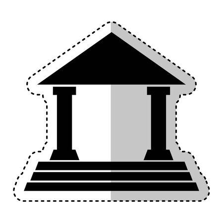 La construcción de columnas romanas icono, diseño de ilustraciones vectoriales Ilustración de vector