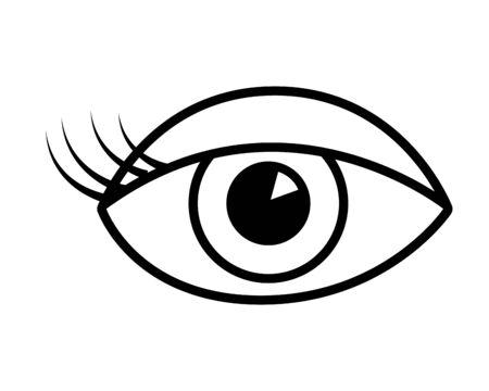weibliches Auge Pop-Art-Element-Vektor-Illustration Vektorgrafik