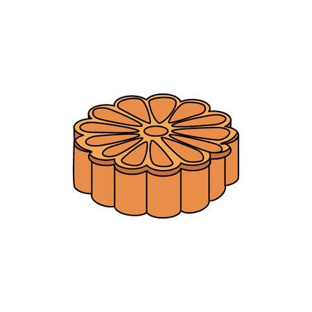 isometric flower shape oriental icon vector illustration design