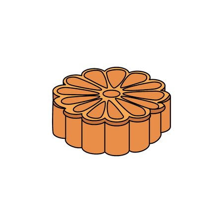 isometric flower shape oriental icon vector illustration design