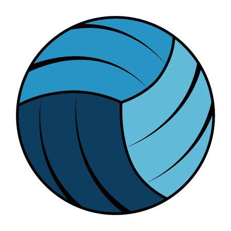 volleyball sport isolated icon vector illustration design Иллюстрация