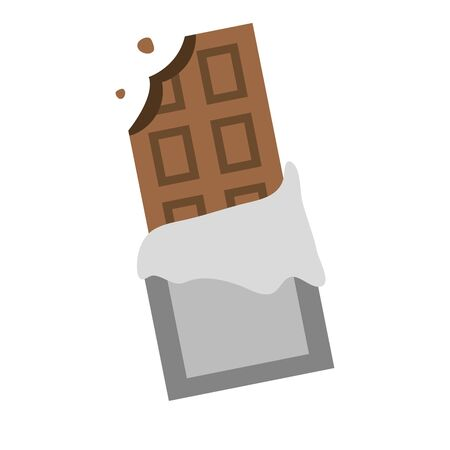 bitten chocolate bar pop art element vector illustration Ilustrace