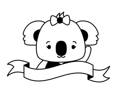 cute koala face cartoon vector illustration design Foto de archivo - 129329360