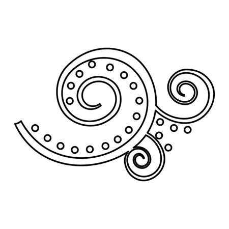 arabesque symbol over white background vector illustration Standard-Bild - 129833879