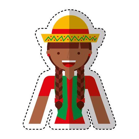 peasant woman avatar character vector illustration design  イラスト・ベクター素材