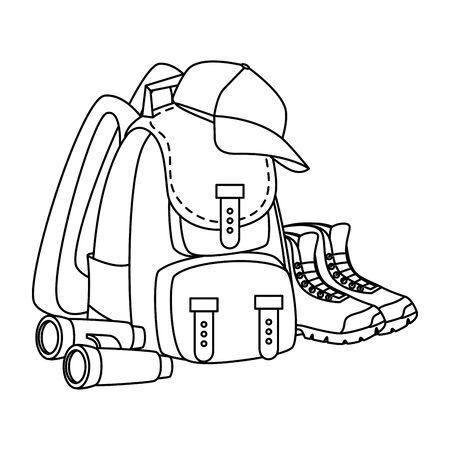camping travel bag accessory icon vector illustration design Stock Vector - 129362935