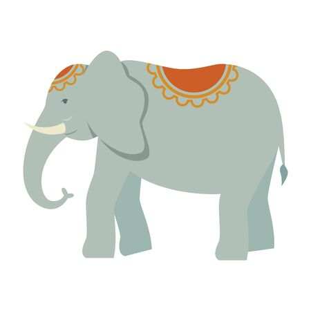 indian elephant traditional isolated icon vector illustration design