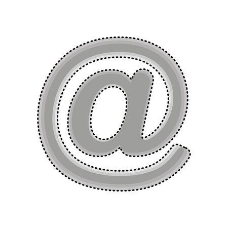 arroba social media icon vector illustration design Stock Illustratie