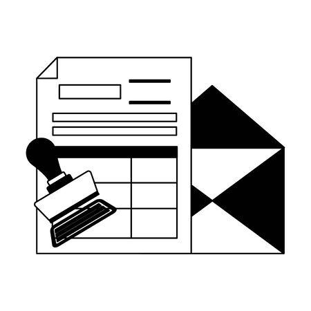 tax payment document invoice paid stamp vector illustration Ilustração