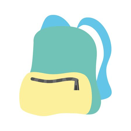 travel backpack isolated icon vector illustration design